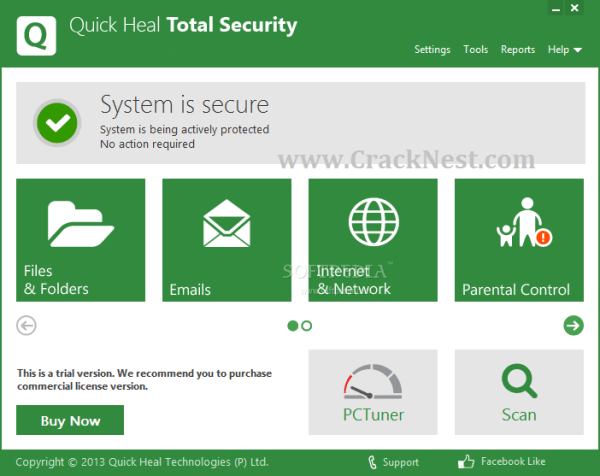 Quick Heal Total Security 12.1.1.31 Crack + Activation Key – Latest [2022]